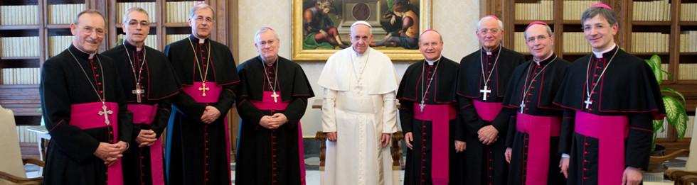 Foto Vescovi Umbri col Santo Padre Francesco